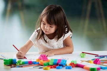 Cute Girl Expressing Creativity