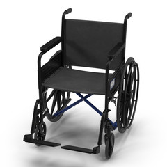 wheelchair isolated on white. 3D illustration, clipping path