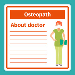 Medical notes about osteopath