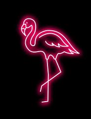 Pink Flamingo vector neon