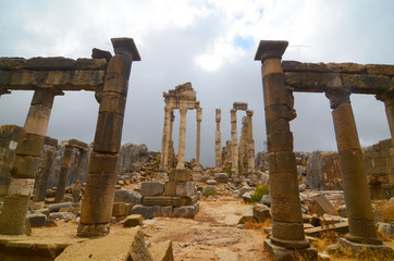 The Temple of Adonis  - partly dug in the rocky platform of Faqra, Lebanon