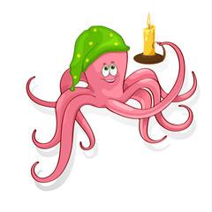 Fun vector illustration of an octopus.