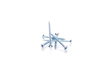 Screws isolated on empty background