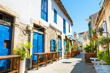 Photo sur Toile Chypre Beautiful old street in Limassol, Cyprus