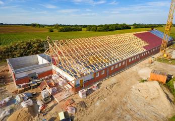 Agrarinvestitionen - Neubau eines Maststalls, Luftaufnahme