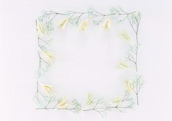 Spring Flower Frame isolated on white