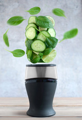 Green smoothie juicing concept