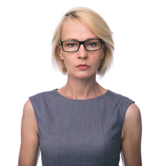 mid age business woman in glasses