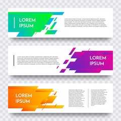 Web banner vector template of color abstract modern background