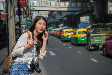 Chinese woman talking on the phone
