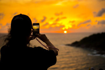Silhouette Photography, sunset sky at the sea