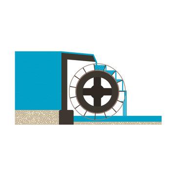 water mill illustration EPS10