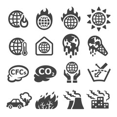 global warming,greenhouse effect icon