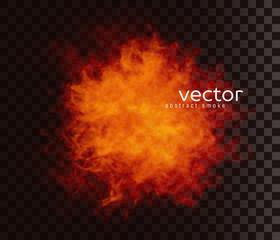 Vector illustration of smoky shape.