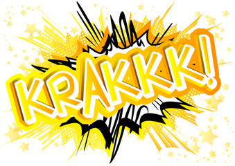 Krakkk! - Vector illustrated comic book style expression.