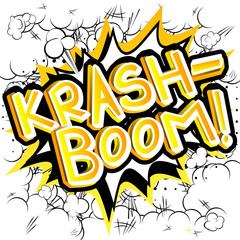 Krash-Boom! - Vector illustrated comic book style expression.