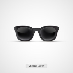 Sunglasses realistic isolated. 3d icon. Vector