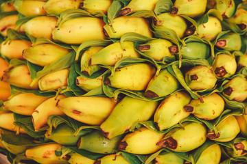 Full Frame Shot Of Bananas For Sale At Market