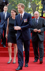 Prince Harry arrives at the 'Dunkirk' World Premiere at Odeon Leicester Square on July 13, 2017 in London