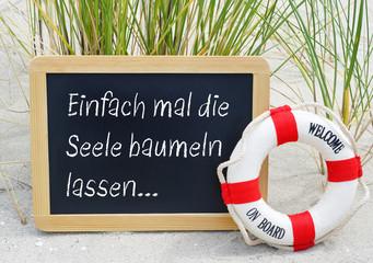 Einfach mal die Seele baumeln lassen - Urlaub am Strand, Sommerurlaub, Sommerferien, Strandurlaub, Auszeit, Erholung