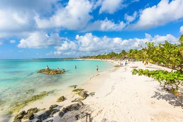 Akumal beach - paradise bay at turtle beach in Quintana Roo, Mexico - caribbean coast