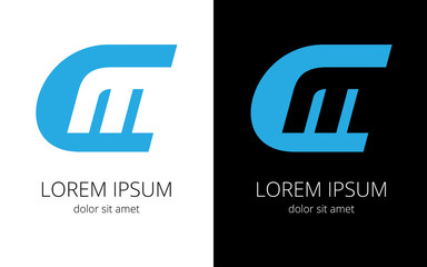 Monogram of letters СM