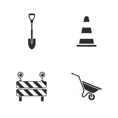 four under construction icons