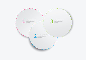 Three Section Overlapping Circles Infographic
