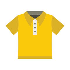 Polo shirt fashion clothes for modern man. Flat icon for web vector illustration