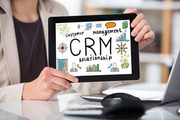 Businesswoman Showing Customer Relationship Management Concept