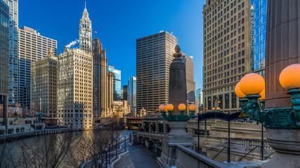 Photo sur Toile Chicago Chicago Riverside