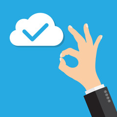 cloud computing OK sign