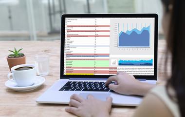 Business Information Technology people work hard Data Analytics Statistics