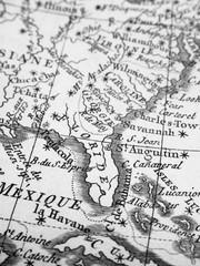 古地図 フロリダ半島