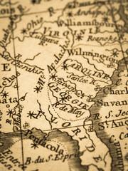古地図 アメリカ・ジョージア州