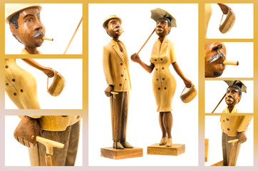souvenir statuette from Cuba collage