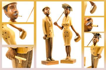 souvenir statuette from Cuba collage