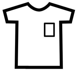 Tshirt icon on white background. t-shirt sign.