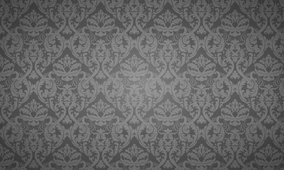 Seamless Damask wallpaper - dark