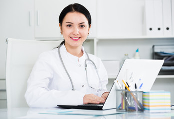 Doctor ready for clients