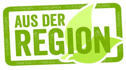 Stempel mit Aus der Region regionale Produkte