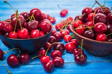 red fresh cherry fruit
