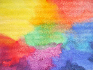 rainbow colorful watercolor painting hand drawn abstract art