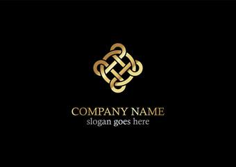 gold circle geometry logo