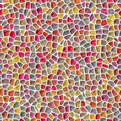Colorful joyful creative mosaic 3d texture seamless background