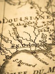 古地図 アメリカ・ニューオリンズ