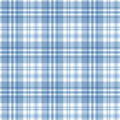 Blue tartan seamless pattern. Vector