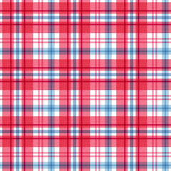 Red and blue tartan. Seamless pattern. Vector