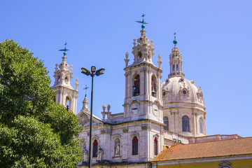 Famous Estrela Basilica in Lisbon