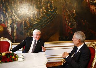 Austrian President  Van der Bellen welcomes German President Steinmeier in Vienna